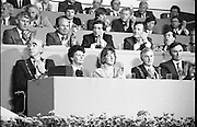 Fianna Fáil Árd Fheis.  (R31)..1986..19.04.1986..04.19.1986..19th April 1986..The Fianna Fáil party held their Árd Fheis at the Simmonscourt, RDS,Dublin over this weekend. the keynote address was given by the party leader Mr Charles Haughey TD.