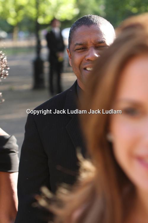 Denzel Washington at Nelson Mandelas Birthday in hyde park