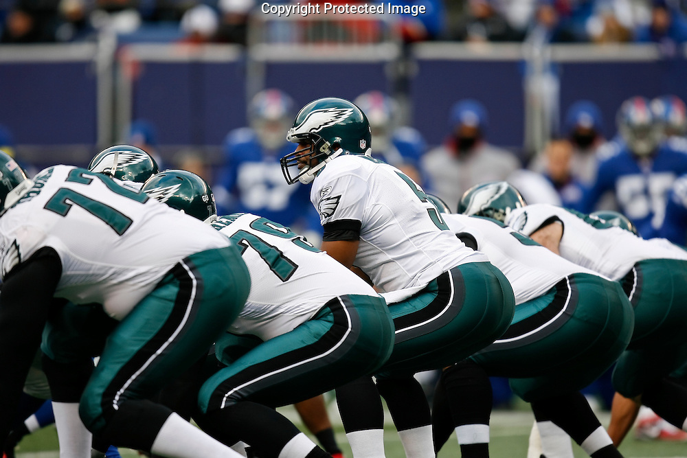 7 Dec 2008: Philadelphia Eagles quarterback Donovan McNabb #5 during the game against the New York Giants on December 7th, 2008. The Eagles won 20-14 at Giants Stadium in East Rutherford, New Jersey.