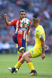 August 1, 2017 - Munich, Germany - Koke of Atletico de Madrid and Marek Hamsik of Napoli durign the first Audi Cup football match between Atletico Madrid and SSC Napoli in the stadium in Munich, southern Germany, on August 1, 2017. (Credit Image: © Matteo Ciambelli/NurPhoto via ZUMA Press)