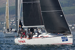 Lights winds dominated the Pelle P Kip Regatta  at Kip Marine weekend of 12/13th May 2018<br /> <br /> RC 35 Class IRL1141,Storm, Pat Kelly, Howth YC / Rush SC, J109<br /> <br /> Images: Marc Turner