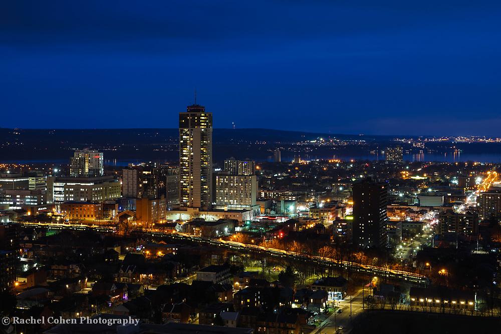 """Hamilton Ontario at Night""<br /> <br /> A beautiful view of downtown Hamilton, Ontario on a winter night!"