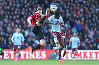 Football - 2019 / 2020 Premier League - AFC Bournemouth vs. Aston Villa<br /> <br /> Bournemouth's Simon Francis clears from Mbwana Samatta of Aston Villa during the Premier League match at the Vitality Stadium (Dean Court) Bournemouth  <br /> <br /> COLORSPORT/SHAUN BOGGUST