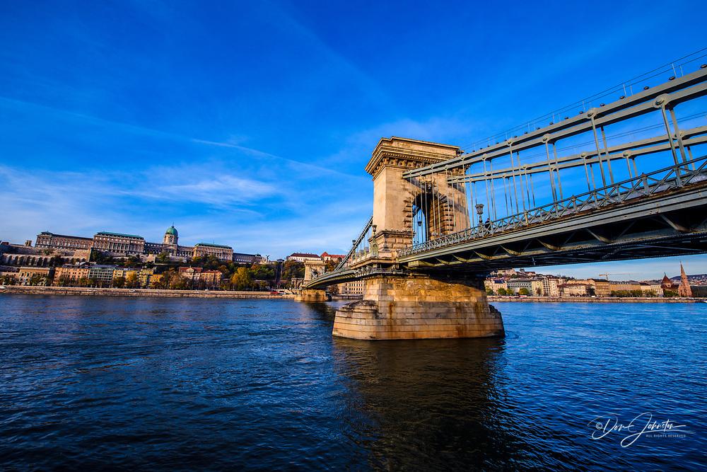 The Chain Bridge, Budapest, Central Hungary, Hungary
