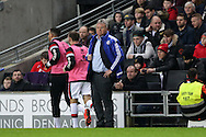 Guus Hiddink, the interim Chelsea manager looks on from the touchline. The Emirates FA cup, 4th round match, MK Dons v Chelsea at the Stadium MK in Milton Keynes on Sunday 31st January 2016.<br /> pic by John Patrick Fletcher, Andrew Orchard sports photography.