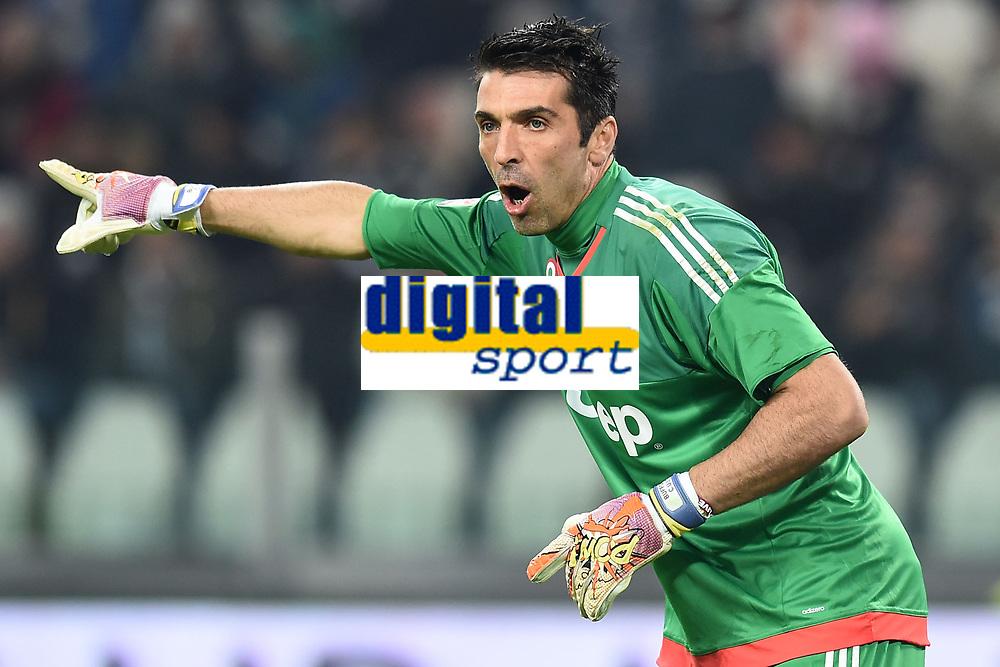 Gianluigi Buffon Juventus <br /> Torino 13-12-2015, Juventus Stadium, Football Calcio 2015/2016 Serie A, Juventus - Fiorentina, Foto Image Sport/Insidefoto
