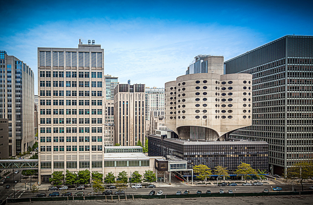 The original Prentice Women's Hospital was completed in 1975 by architect Bertrand Goldberg, serving as the birthplace of thousands of Chicagoans until its decommissioning in 2007. In February 2013, The Chicago commission of Landmarks make its final vote to deny Landmark status, paving the way for its demolition. Northwestern Memorial Hospital, which owns the property wishes to build a new research facility on the site. Chicago photography by ©2012 Wayne Cable (.com), all rights reserved. Wayne Cable is a leading Chicago architectural photographer.