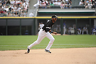 CHICAGO - MAY 22:  Alexei Ramirez #10 of the Chicago White Sox fields against the Los Angeles Dodgers on May 22, 2011 at U.S. Cellular Field in Chicago, Illinois.  The White Sox defeated the Dodgers 8-3.  (Photo by Ron Vesely)  Subject:   Alexei Ramirez