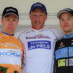 WIELRENNEN, Hoofddorp, Olympias tour Berden de Vries (Gieterveen/CT Jo Piels) wint het eindklassement van Nederlands oudste etappekoers. Wim Stroetinga werd 2e en Jesper Asselman 3e