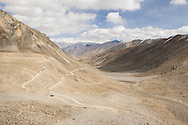 The highway to the highest pass in the world is very desolate just on the Nubra Valley side.