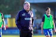 AFC Wimbledon manager Wally Downes walking off the pitch during the EFL Sky Bet League 1 match between AFC Wimbledon and Charlton Athletic at the Cherry Red Records Stadium, Kingston, England on 23 February 2019.