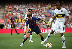 August 15, 2018 - Barcelona, Spain - Riqui Puig and Villa during the match between FC Barcelona and C.A. Boca Juniors, corresponding to the Joan Gamper trophy, played at the Camp Nou, on 15th August, 2018, in Barcelona, Spain. (Credit Image: © Joan Valls/NurPhoto via ZUMA Press)