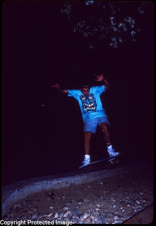 Tommy Guerrero ? skateboards at the YMCA in Visalia, California in 1988.