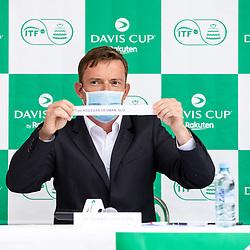 20210916: SLO, Tennis - Davis Cup, World Group II, Slovenia vs Paraguay, public draw