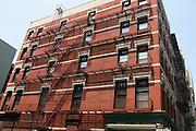 USA, NY, New york city, Manhattan, Red brick buildings
