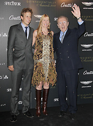 © Licensed to London News Pictures. 01/09/13 Sir David Frost dies. FILE PICTURE: Sir David Frost; Lady Carina Frost; George Frost Quintessentially Awards, One Marylebone, London, UK. 28 September 2011. Photo credit : Richard Goldschmidt/Piqtured/LNP