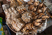 Stall selling dried fish in a food market in Thailand