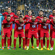 Genclerbirligi's players during their Turkish superleague soccer match Fenerbahce between Genclerbirligi at the Sukru Saracaoglu stadium in Istanbul Turkey on Saturday 25 October 2014. Photo by Aykut AKICI/TURKPIX