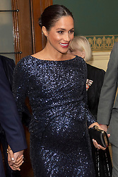 """Prince Harry and Meghan Markle attend the Premiere of Cirque Du Soleil: """"Totem"""" at The Royal Albert Hall, London, UK, on the 16th January 2019. Picture by Paul Grover/WPA-Pool. 16 Jan 2019 Pictured: Meghan Markle, Duchess of Sussex. Photo credit: MEGA TheMegaAgency.com +1 888 505 6342"""