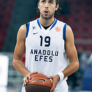 Anadolu Efes's Sasha VUJACIC during their Two Nations Cup basketball match Anadolu Efes between Olympiacos at Abdi Ipekci Arena in Istanbul Turkey on Sunday 02 October 2011. Photo by TURKPIX