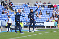Football - 2021 / 2022 EFL Sky Bet Championship -Reading vs. Preston North End - The Madejski Stadium - Saturday 14th August 2021<br /> <br /> Reading Manager Veljko Paunovic and Preston North End Manager Frankie McAvoy shout instructions to there teams during the first half at The Madejski Stadium <br /> <br /> COLORSPORT/Shaun Boggust