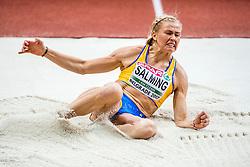 03-03-2017  SRB: European Athletics Championships indoor day 1, Belgrade<br /> In een lege Kombank Arena wordt de eerste dag van het Europees Kampioenschap gehouden / Bianca Salming SWE