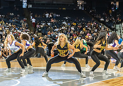 July 6, 2018 - Oakland, CA, U.S. - OAKLAND, CA - JULY 06: The BIG3 Dancers perform during half-time of game 4 in week three of the BIG3 3-on-3 basketball league on Friday, July 6, 2018 at the Oracle Arena in Oakland, CA (Photo by Douglas Stringer/Icon Sportswire) (Credit Image: © Douglas Stringer/Icon SMI via ZUMA Press)