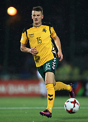 Lithuania's Edvinas Girdvainis during the 2018 FIFA World Cup Qualifying Group F match at the LFF Stadium, Vilnius
