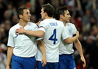 Football -<br />  International Friendly -<br />  England vs. Spania 1-0<br />  Frank Lampard - England  celebrates his goal with Phil Jones and Phil Jagielka<br /> <br /> Norway only
