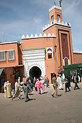 Mosque and medina walls Place Jema al-Fna, Marrakech, Morocco, north Africa