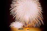Fireworks, Positano, Amalfi Coast, Italy