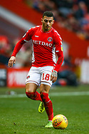 Charlton Athletic midfielder Karlan Ahearne-Grant (18) on the ball during the EFL Sky Bet League 1 match between Charlton Athletic and Accrington Stanley at The Valley, London, England on 19 January 2019.