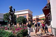 Shopping plaza in downtown SLO, San Luis Obispo, CALIFORNIA