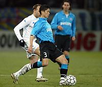 Fotball<br /> UEFA-cup<br /> Auxerre v PSV Eindhoven<br /> 11. mars 2004<br /> Foto: Digitalsport<br /> Norway Only<br /> <br /> YOUNG PYO LEE (PSV) <br /> <br />  *** Local Caption *** 40001078