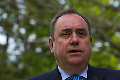 Portraits of Scotland's First Minister Alex Salmond