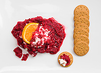 Cranberry chutney and crackers