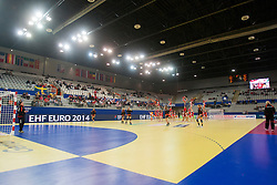 10-12-2014 CRO: EHF EK Nederland - Zweden, Varazdin<br /> City Sports Hall during handball match between Netherlands and Sweden at 11th EHF European Women's Handball Championship Hungary-Croatia 2014<br /> *** USE NETHERLANDS ONLY ***