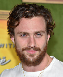 October 4, 2018 - Hollywood, California, U.S. - Aaron Taylor-Johnson arrives for the HBO's 'My Dinner With Herve' Los Angeles Premiere on the Paramount Studios Lot. (Credit Image: © Lisa O'Connor/ZUMA Wire)