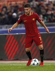 December 5, 2017 - Rome, Italy - Roma s Lorenzo Pellegrini during the Champions League Group C soccer match between Roma and Qarabag at the Olympic stadium. Roma won 1-0 to reach the round of 16. (Credit Image: © Riccardo De Luca/Pacific Press via ZUMA Wire)