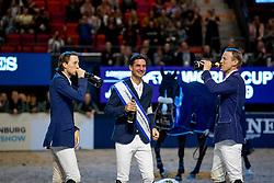 Podium World Cup Final, Guerdat Steve, Fuchs Martin, Fredrikson Peder<br /> LONGINES FEI World Cup™ Finals Gothenburg 2019<br /> © Hippo Foto - Stefan Lafrentz<br /> 07/04/2019