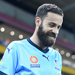 BRISBANE, AUSTRALIA - NOVEMBER 19: Alex Brosque of Sydney walks out during the round 7 Hyundai A-League match between the Brisbane Roar and Sydney FC at Suncorp Stadium on November 19, 2016 in Brisbane, Australia. (Photo by Patrick Kearney/Brisbane Roar)