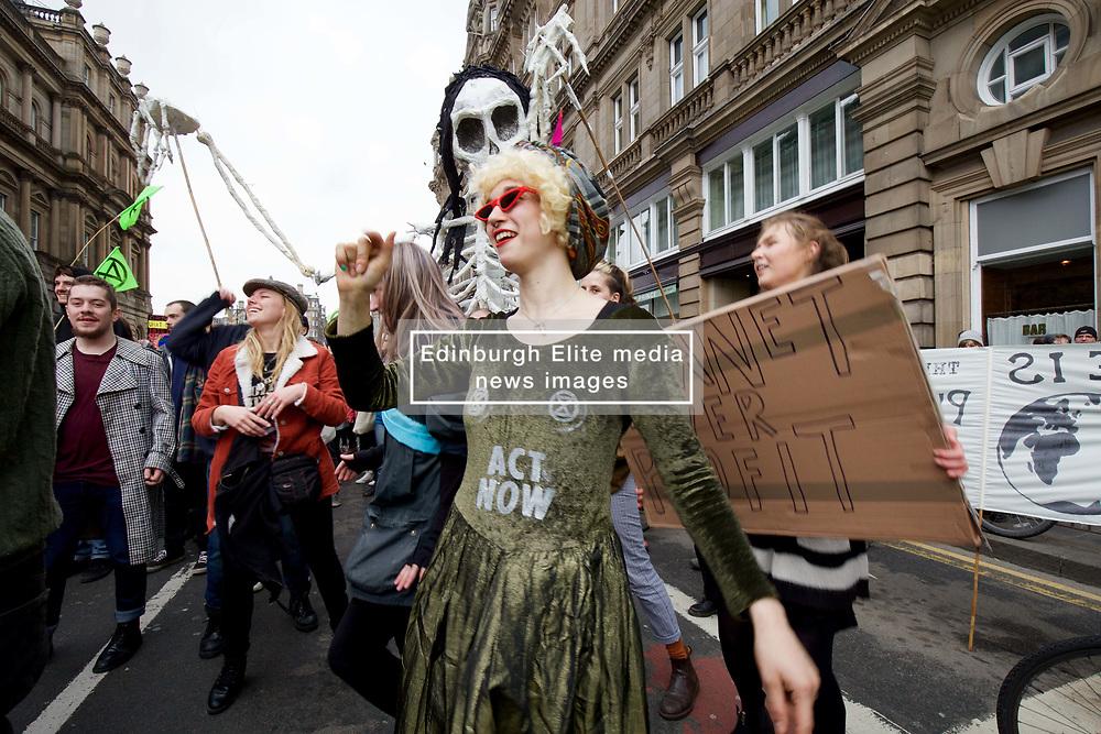 An Extinction Rebellion on climate change took place on North Bridge, Edinburgh pic copyright: Terry Murden @edinburghelitemedia
