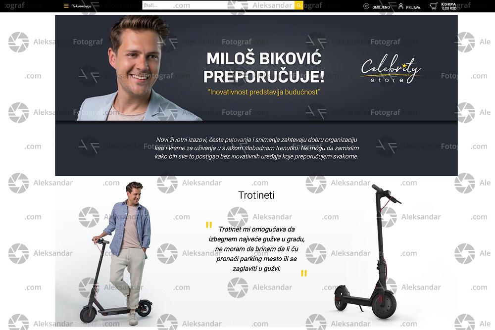"Photo shooting with Serbian actor Miloš Biković for ""Tehnomanija Celebrity store"", April 2020.<br /> Fotografisanje sa Milošem Bikovićem za ""Tehnomanija Celebrity store"",<br /> april 2020"