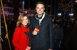 JAMIE THEAKSTON and HARRIET SCOTT at the opening of the Natural History Museum's ice rink, Cromwell Road, London on 14th November 2006.<br />