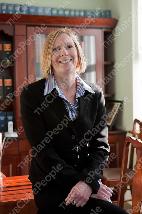 Sinead Kenny at McMahon-Williams solicitors,Kilrush. Photograph by Eamon Ward