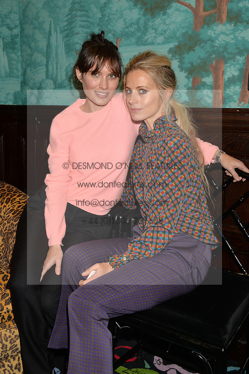 Left to right, SHEHERAZADE GOLDSMITH and LAURA BAILEY at a lunch to view Solange Azagury-Partridge's new collection - Chromance at her store at 5 Carlos Place, London on 7th October 2014.