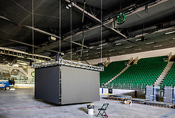 Reconstruction of Arena Tivoli after the 2020 IIHF World Championship Division I Group A Tournament was cancelled due to coronavirus Covid-19, on April 22, 2020 in Ljubljana, Slovenia. Photo by Vid Ponikvar / Sportida