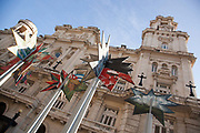 Museo Nacional de Bella Artes - the Museum of Beutiful Art, Havana old town outdoor view with sculptures outside.