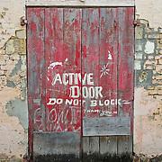 Doorway in St Johns, Antigua.