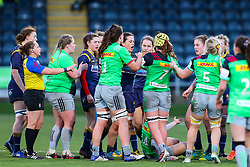 Players from Worcester Warriors Women and Harlequins Women square up - Mandatory by-line: Nick Browning/JMP - 20/12/2020 - RUGBY - Sixways Stadium - Worcester, England - Worcester Warriors Women v Harlequins Women - Allianz Premier 15s